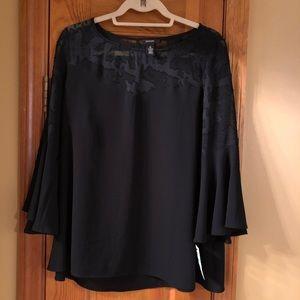 Alfani Black bell sleeve top Size 8